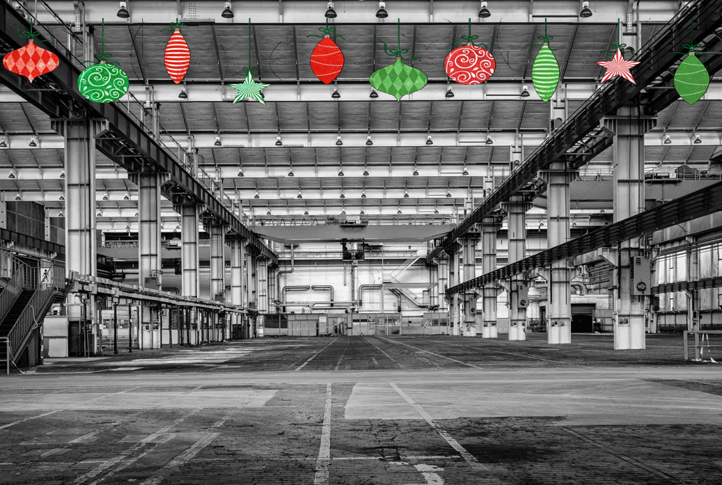 The warehouse can get festive at Christmas with a power stacker.